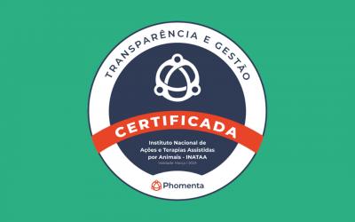 INATAA é certificado em Boas Práticas em Gestão e Transparência pela Phomenta